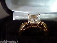 1.0CT PRINCESS LCS DIAMOND ENGAGEMENT WEDDING BAND RING  SZ 6 + gift!