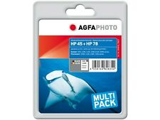 AGFA FOTO HP SET HP45 + 78 Set HP DJ800 TINTA 1x42ml negro +1x48ml color HP78