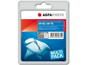 AGFA PHOTO HP SET HP45 + 78 set HP DJ800 INK 1x42ml black +1x48ml color HP78