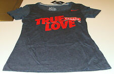 Team Canada 2014 Sochi Olympics XL Black Scoring Triblend Ladies Women T Shirt