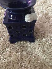 Teelichthälter Teelicht Ständer Keramik Blau Mit Weise Kätzchen