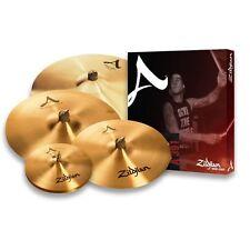 "Zildjian a Series 391 Cymbal Pack 14"" Hi Hats 16"" 18"" Medium Crash 21 Inch Ride"