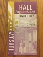 2008 Democratic National Convention HONORED GUEST HALL Credential Barack Obama