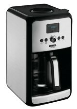 KRUPS Savoy 12-Cup Programmable Black Stainless Turbo Coffee Maker EC3140 - New
