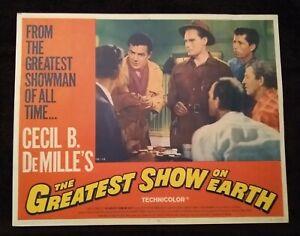 The Greatest Show on Earth 1967R (11x14) Lobby Card #7 Charlton Heston