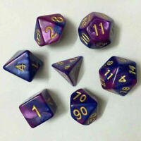 7pcs TRPG Games Dungeons & Dragons D4-D20 Multi-sided H1E7 Lava Dices Sup P T8G7