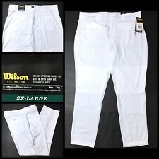 WILSON Pro T3 Premium Relaxed Fit Adult Mens Baseball Pants Sz 2XL White WTA4440