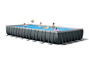 INTEX 32ft x 16ft x 52in Ultra XTR Rectangular Above Ground Swimming Pool