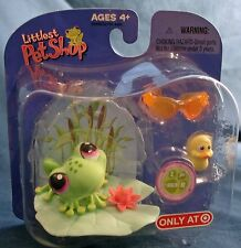 Littlest Pet Shop Target exclusive retired #283 frog with mini duck glasses pad