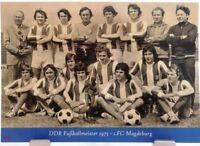 1.FC Magdeburg + DDR Fußball Meister 1975 + Fan Big Card Edition E13 +