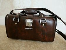 VINTAGE GENUINE OLYMPUS CAMERA  LEATHERETTE OUTFIT CASE WITH STRAP NICE!