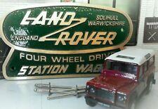 Messing Bronze Grün Dose HERITAGE STATION WAGON Platte Land Rover Defender 90