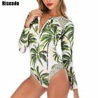 Swimwear Women Long  Sleeve Bathing Suit Beach Wear One Piece Swimsuit Sport