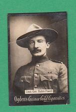 OGDENS LTD. - RARE  MILITARY  /  LIEUT - GEN.  BADEN - POWELL CARD - 1901