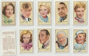 Scarce Gallaher Set 48 Issued 1935.Signed Portraits of Famous Stars (F57)