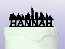 Personalised New York Acrylic Cake Topper