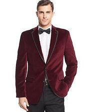 Men Maroon Smoking Jackets Elegant Wedding Groom Designer Party Wear Blazers