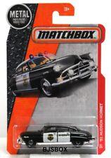 Matchbox Metal 2016 51 HUDSON HORNET #57 Black & White Police Car New Sealed NIP