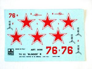 Esci 9098 Vintage Stickers Tu-22 Blinder B 1:72 Modélisme