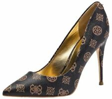 Guess Okley8 Brown Gold Womens Heels Court Shoes