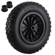 "Pethot PU 14"" Puncture Proof Solid Industrial Wheelbarrow Wheel Tyre 3.5-8 Light"