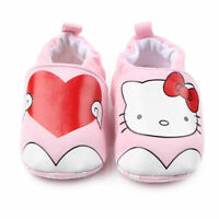 NEW Hello Kitty Baby Girl Pink Heart First Walker Soft Sole Crib Shoes Slippers