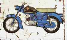 Zundapp KS100 1965 Aged Vintage Photo Print A4 Retro poster