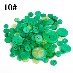 100Pcs Colorful Round Sewing Mixed Size Resin Buttons DIY Crafts Scrapbook