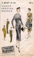 1950's VTG VOGUE Special Design Misses'  Dress Pattern 4647 Size 14