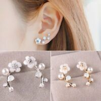 Women Fashion Jewelry Earrings Lady Elegant Crystal Rhinestone Ear Stud Gifts
