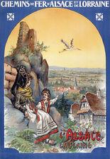 Affiche chemin de fer Alsace Lorraine - L'Alsace la Plaine