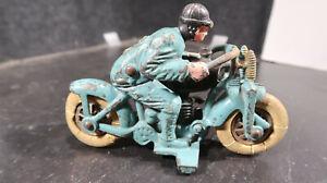 Hubley Harley Davidson H-D Cast Iron Hill Climber Motorcycle Racer