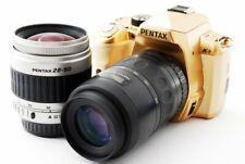 PENTAX K-r 12.4MP 28-90/80-200mm Lens Set Gold [Exc+] w/8GB SD Card,Strap [824]