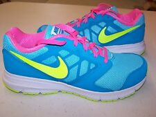 Nike Kids Size 7 M Gs/Ps Downshifter 6 Running Shoe Volt Blue/Lgn Pink/Pw New