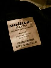 Vellux Original Twin Solid Colored  Lux Blanket - Black 66 inches x 90 inches