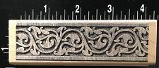 POETIC PRINTS ITALIAN ELEGANT STONE BORDER Hero Arts Wood Mounted Rubber Stamp