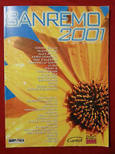 SPARTITO - SANREMO 2001  -  RACCOLTA