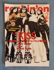 KISS Rockin' On Magazine Japan Feb 1997 Gene Simmons Ace Frehley Paul Stanley