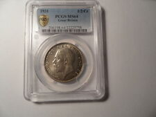 More details for g.britain 1931 half-crown- pcgs joint highest graded ms64!!