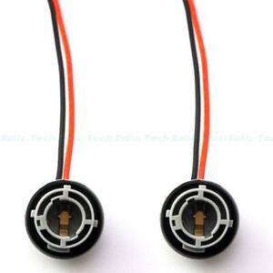 2Pcs 1156 7527 7506 P21W Female Socket Wire Harness For LED Turn Signal Lights