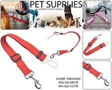 Pet Dog Car Seat Belt Safety Ajustable Harnesses Lead Restraint Clip Leash Red