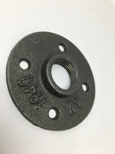 """3/4"""" Malleable Threaded Black Wall Flange Iron Pipe Fittings"""