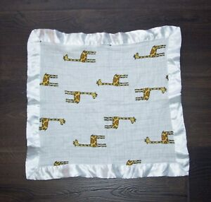 Aden + Anais Jungle Jam Giraffe Issie Baby Blanket Satin Trim Edge Security