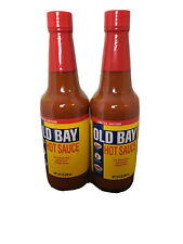Old Bay Hot Sauce Lot Of Two 10. oz. Bottles