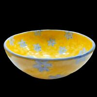"""Vintage DEDZA MALAWI Art Pottery Hand Painted Large Bowl  9.5""""W X 4""""H"""
