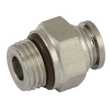 """8mm x 1/4"""" BSPP Stainless steel, 316 Push in male stud For High Temp & Fuel"""