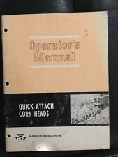 Massey Ferguson Quick-attach Corn Heads Operators Manual