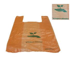 100 Hemdchentragetaschen Biotüte Tragetaschen 30x18x55cm biol. abbaubar (7701-3)