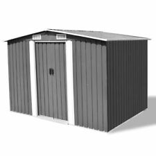 VidaXL Garden Storage Tool Shed Workshop Shelter 2.57x2.05m Steel W/ Roof  Grey