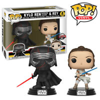 Kylo Ren and Rey Star Wars The Rise of Skywalker Official Funko Pop Figure